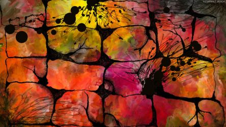 Stone Wall of Color by StarwaltDesign