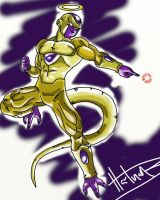 Time Lapse Art: Golden Frieza (Video Below) by BrandonHartman