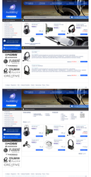 Audioking webstore layout by duckishere