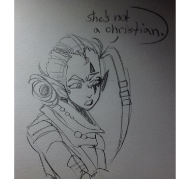 she's not a christian by AndroiDoodler
