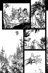 The Cape: Fallen Issue #3 page 16 inks by Spacefriend-KRUNK