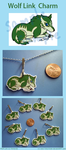 Wolf Link Charm by VickyViolet