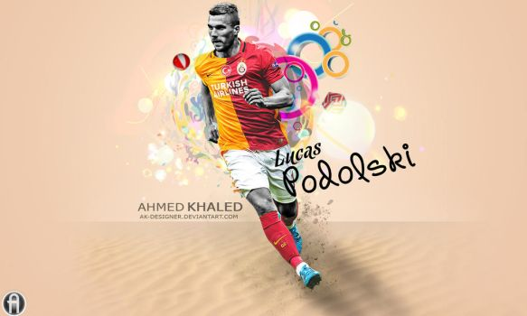 Lucas Podolski 2015-16 wallpaper by AK-DESIGNER