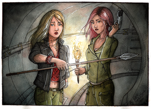 COM ~ Escaping through the sewers by Songes-et-crayons