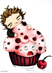 tyler toffoli and the giant muffin (colored it) by puzzledpixel