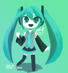 Miku's 10th Birthday by Neumann-981