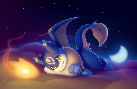 Mika's little buddy in the Clouds by streetdragon95