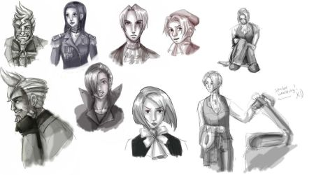 More Phoenix Wright sketches by Jessami