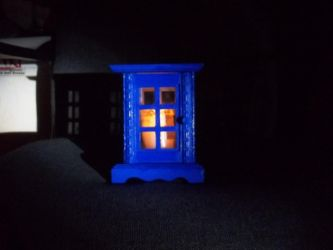 Dr. Who Tardis Candle Holder by Hollena