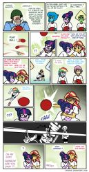 Canterlot High dodgeball by Crydius