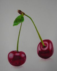 Crimson Cherries - Watercolor by Brandon-Schaefer