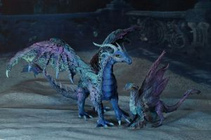 Dragons in blue by kessan