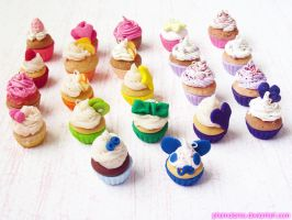 Rainbow Cupcake Charms! by kpossibles