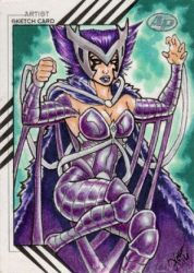 Deathbird by Loren Bobbitt - Marvel Fleer Retro by ElainePerna
