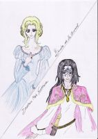 Ysandre and Drustan by Lacus-Clyne