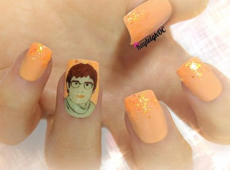 Louis Theroux Nail Art by KayleighOC