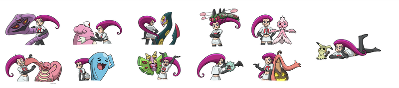 The Many Pokemon of Jessie by ToonStarterz