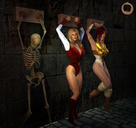 Adora and Teela held prisoner by Uroboros-Art