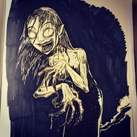 Inktober day 10 - The Witch by SethKearsley
