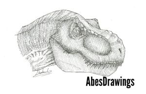 T Rex sketch by AbesDrawings