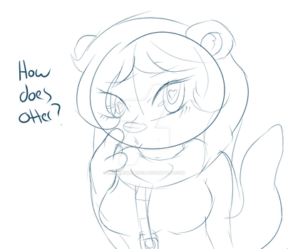 Silly Otter Sketch from Mooshi by RedWingRemixes