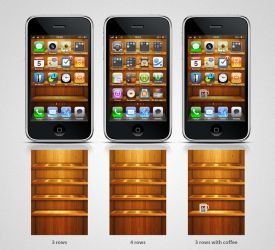 wooden shelf iphone4 wallpaper by twinware