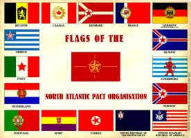 Flags of the North Atlantic Pact Organisation by marcpasquin