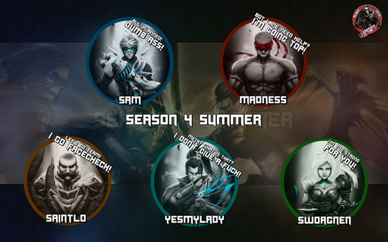 Wallpaper Black Styx Gaming Summer Split by YesMyLadyLoL