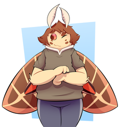 [Gift Art] Moth friendo by TheRetroArtist