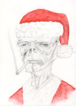 Merry Christmass from Zombie Santa by subedei