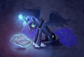 Luna - She loves to study by fra-92