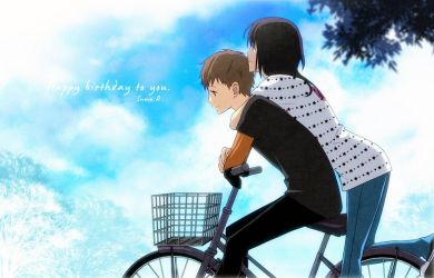 Happy birthday to him. by inma