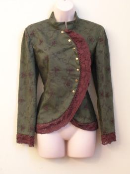 Green Asymmetrical Jacket by FenigDurak