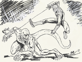The Amazing Spider-Man vs the Lizard by CagsCreations