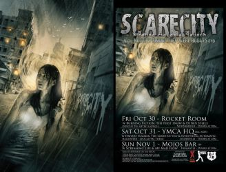 SCARECITY cover art by JustinRandall