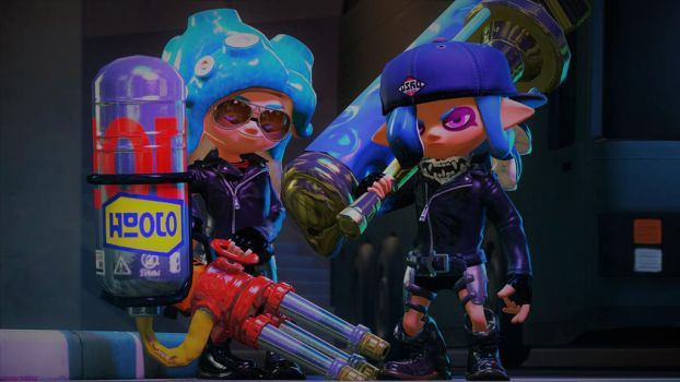 The Combat Sisters (Splatoon SFM Poster) by Johnny-Inkling