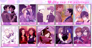 Slash Yuri Yaoi Top 10: Couples Edition by touch-of-jade