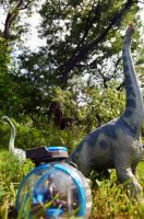 Brachiosaurs and Gyrosphere by CrazyAsylumClown