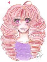 Curly hair and a smile by Odespaprikan
