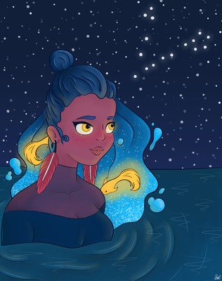 Pisces (Destiny Blue Redraw Challenge) by SydVC