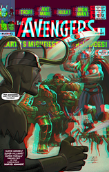 Avengers by John Romita Jr in 3d Anaglyph by xmancyclops