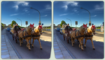 Carriage in Dresden 3-D / CrossView / Stereoscopy by zour