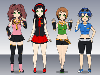 Chie, Yukiko, Naoto and Rise Reprogrammed by HypnolordX