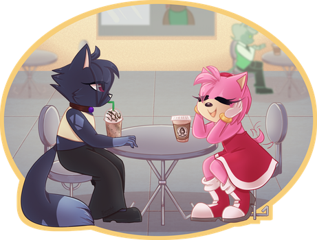 Ink and Amy Out for Coffee by MeannCat