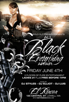 all black affair flyer by DeityDesignz