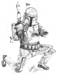 Jango Fett Sketch by Chum162