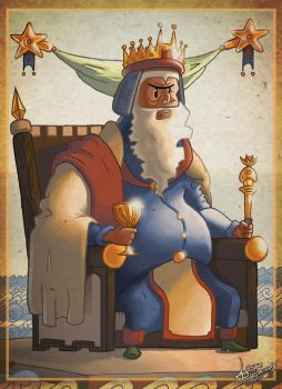 [Mighty Monkey] - Tarot Card: The King of Cups by DLSGorm