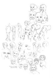 Warm Up Sketches by Rebeccannoying