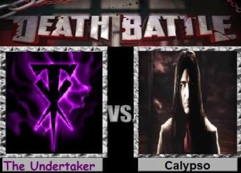 The Undertaker vs Calypso by cartoonfan22