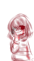 Genocide Frisk (Messy wip) by Artty-Chan